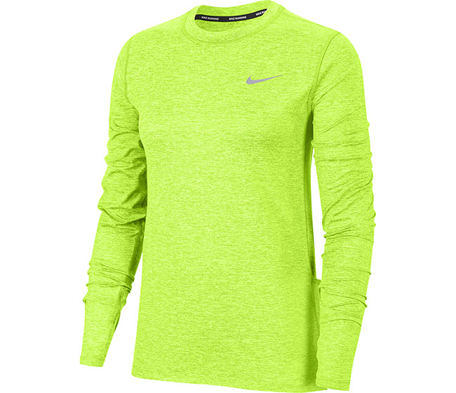 Nike Element Long Sleeve Crew (W) (Lime)